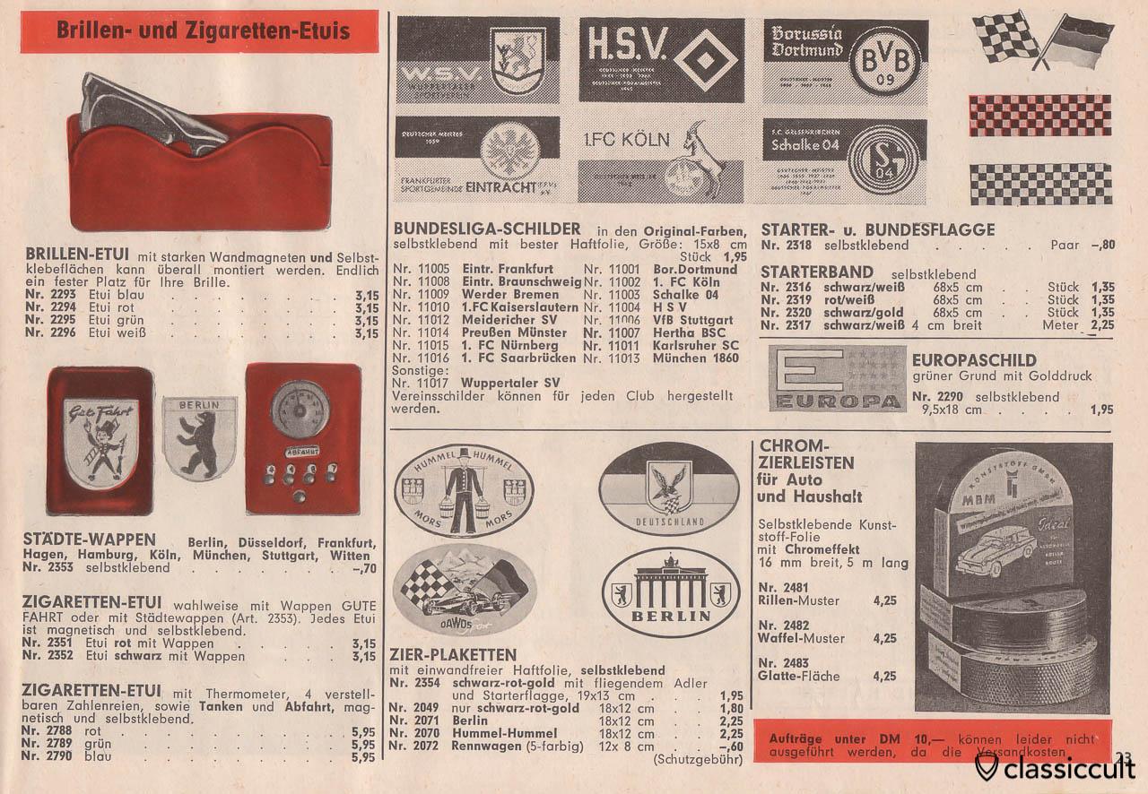 Berlin, Düsseldorf, Frankfurt, Hamburg, Köln, München, Stuttgart city crest stickers, Page 23