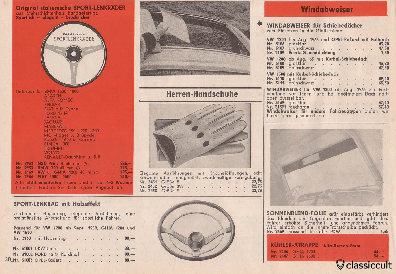 VW sunroof wind deflector and sport steering wheel, Page 30