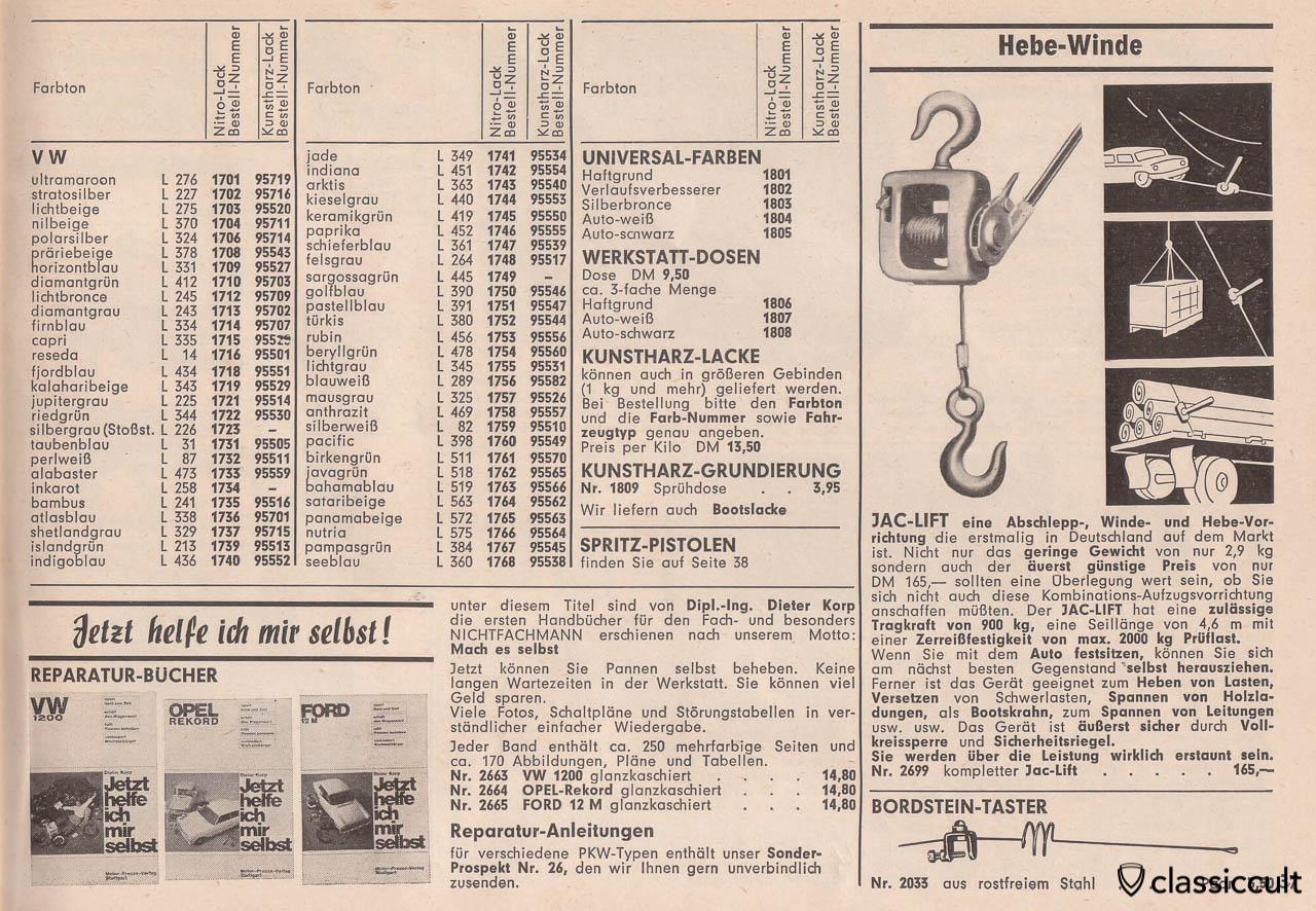 Jetzt helfe ich mir selbst! German VW 1200 repair book, Page 37