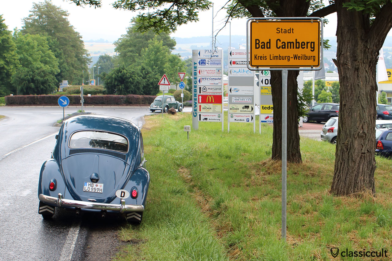 My VW Beetle just arrived in Bad Camberg, June 20, 2015, 8:40 a.m.