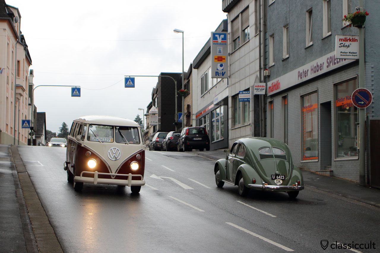 Vw Split Bus And Split Beetle In Bad Camberg City At 9 04