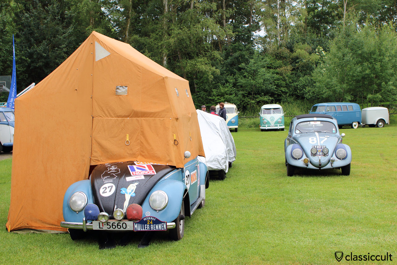 VW Oval Bug with roof tent