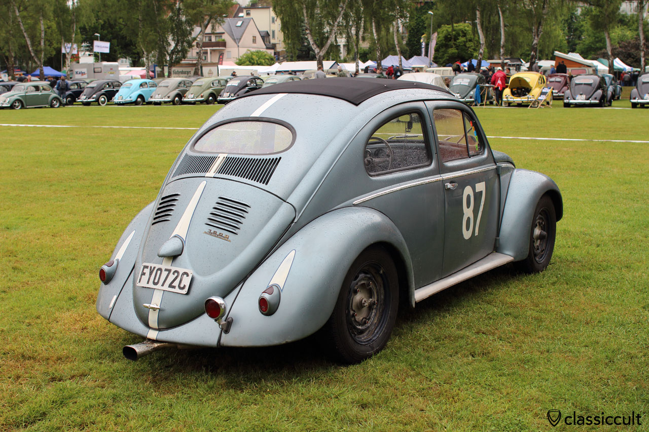 VW Ragtop Oval Bug with special exhaust pipe