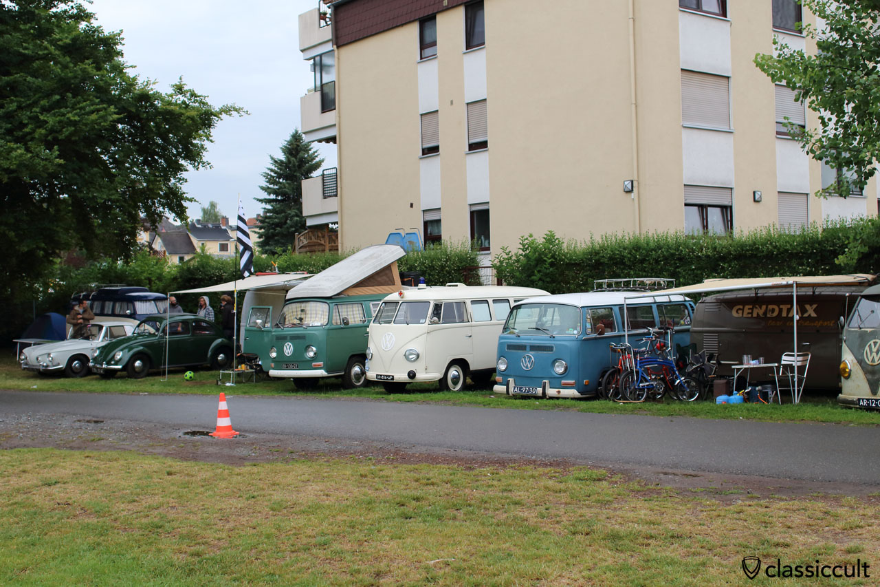 Vintage VW camping opposite of Bad Camberg VW Show 2015