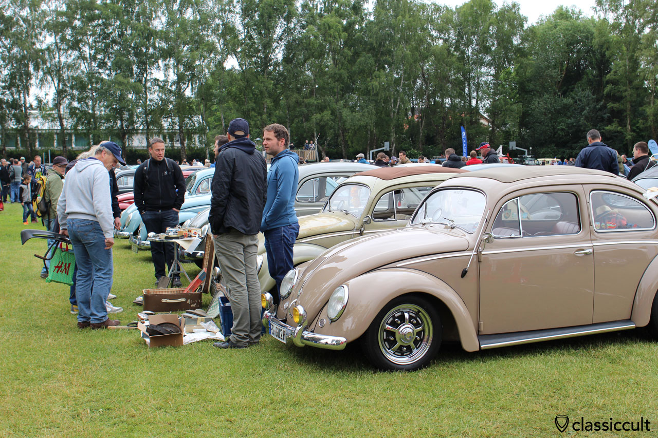 VW Oval Bug with Hella bumper guards and Sprintstar wheels
