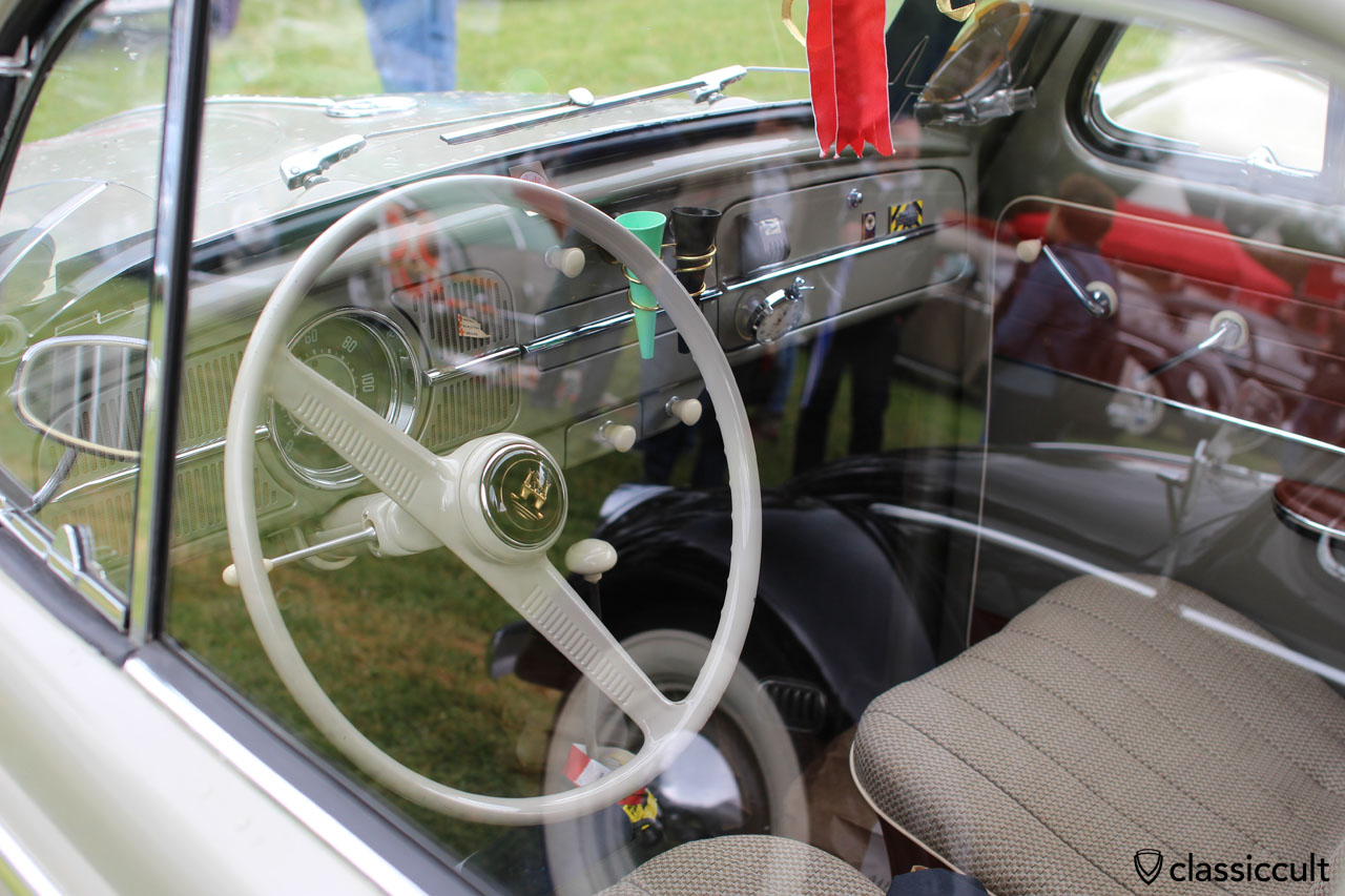 VW Oval Beetle with new dashboard