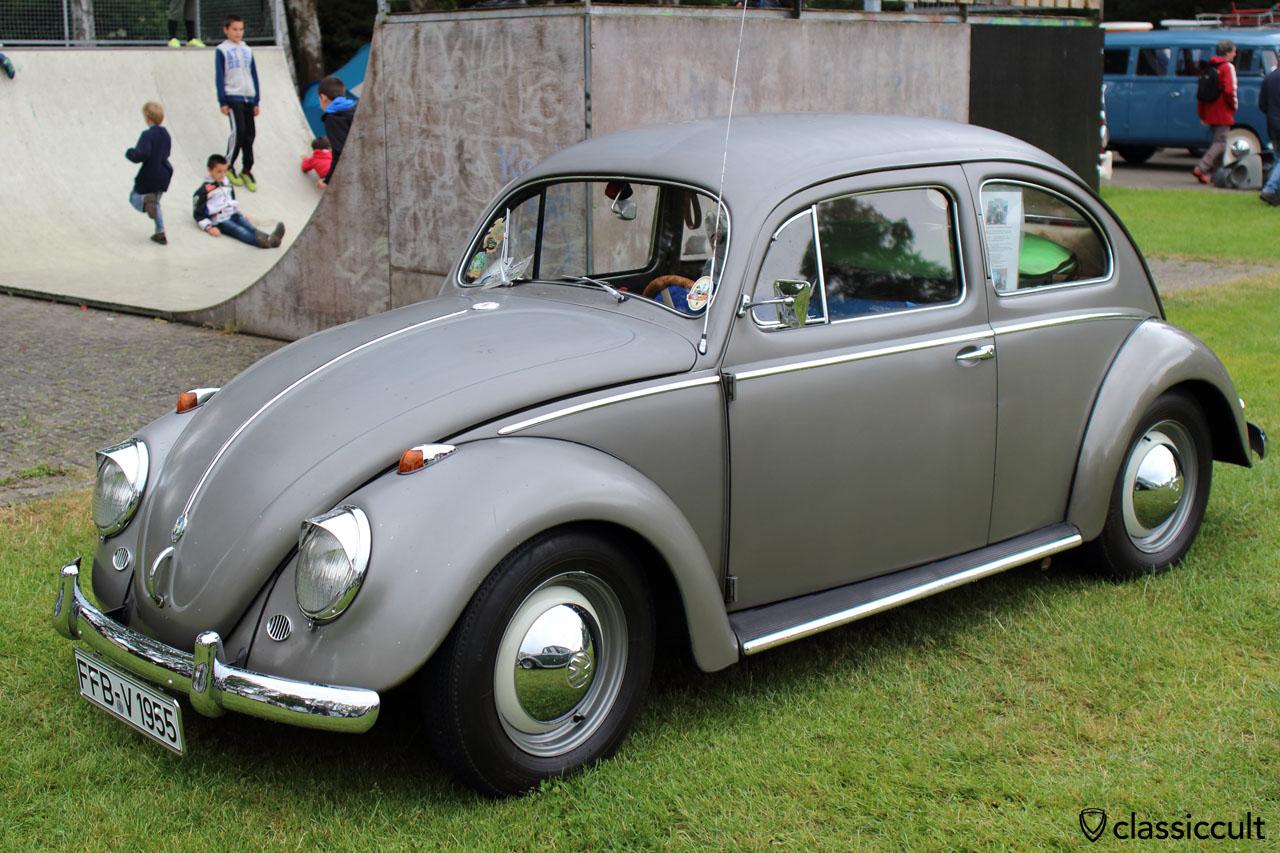 VW Oval, 11/1955, polarsilver, never had resto