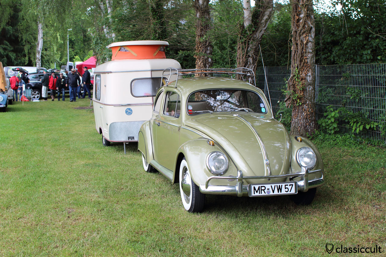 1957 VW Oval Bug with caravan