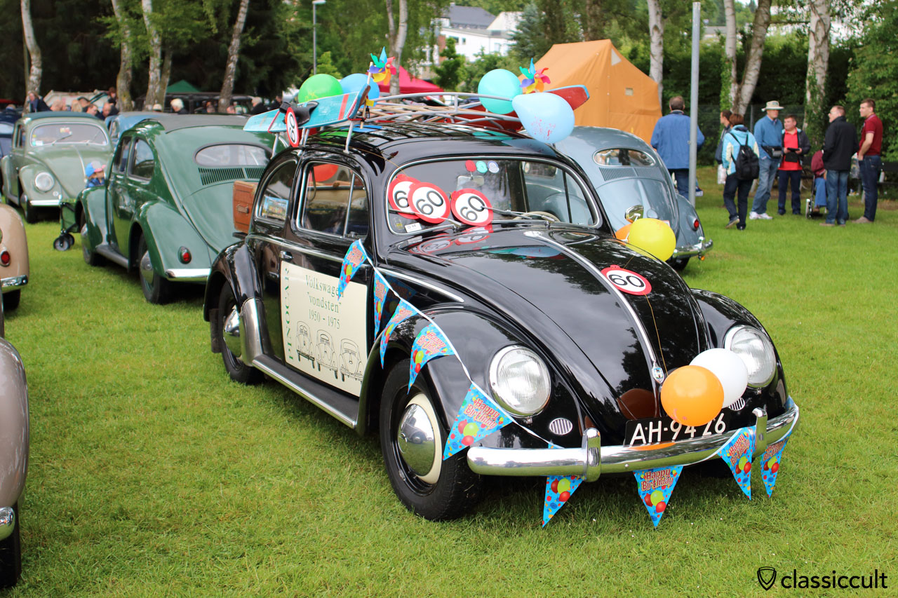 VW Oval Beetle built on 20. June 1955. Today 60 years old and still in good condition. Well done! Bad Camberg VW Show 2015