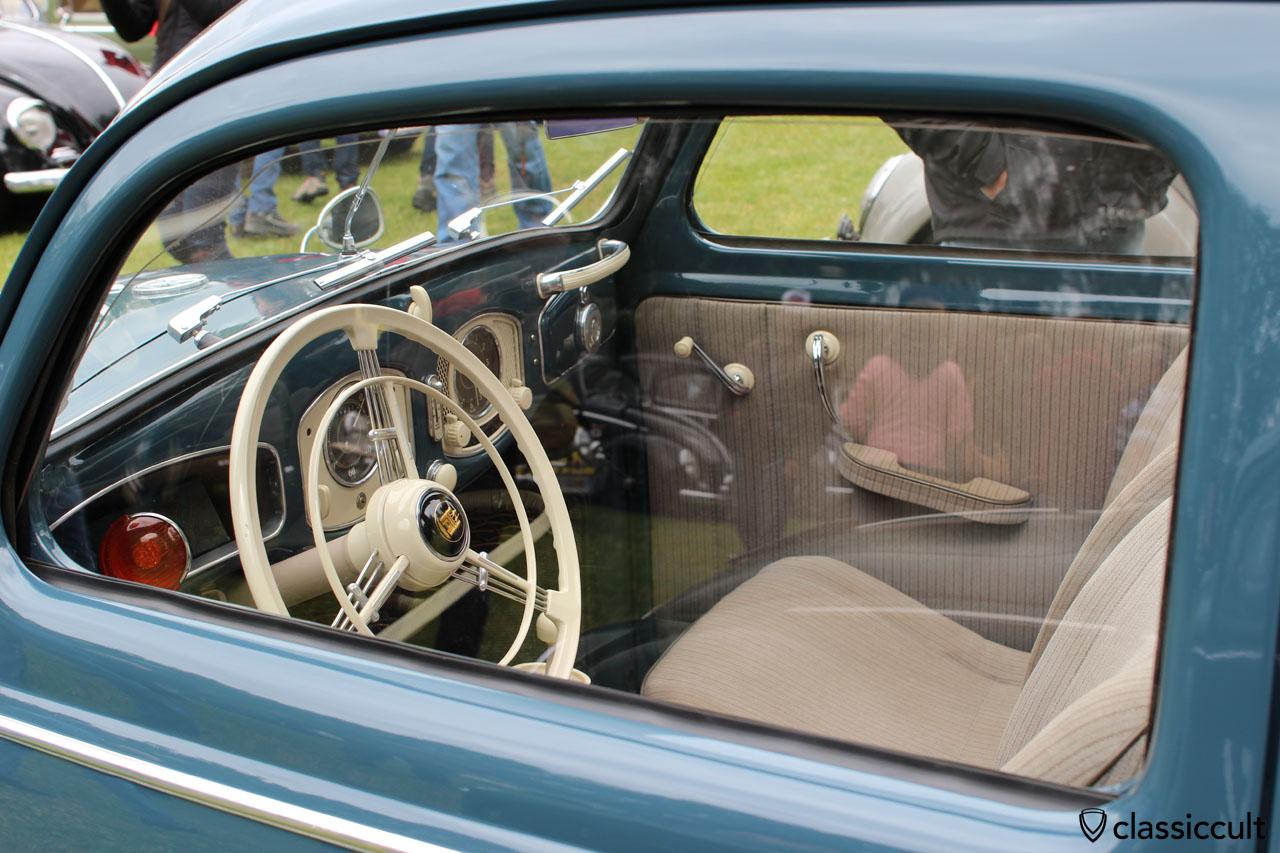 superb Split Window Beetle, dash view