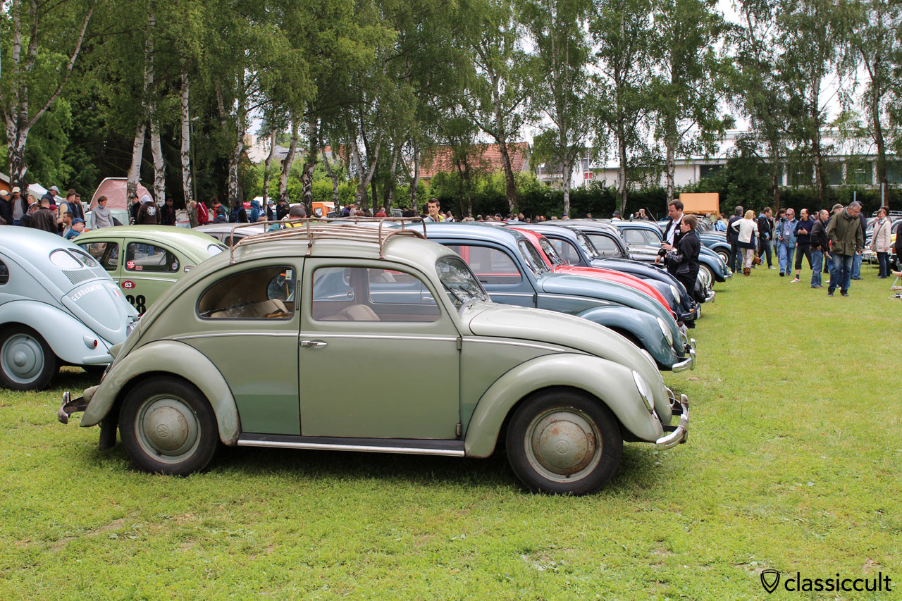 VW Split with patina and roof rack