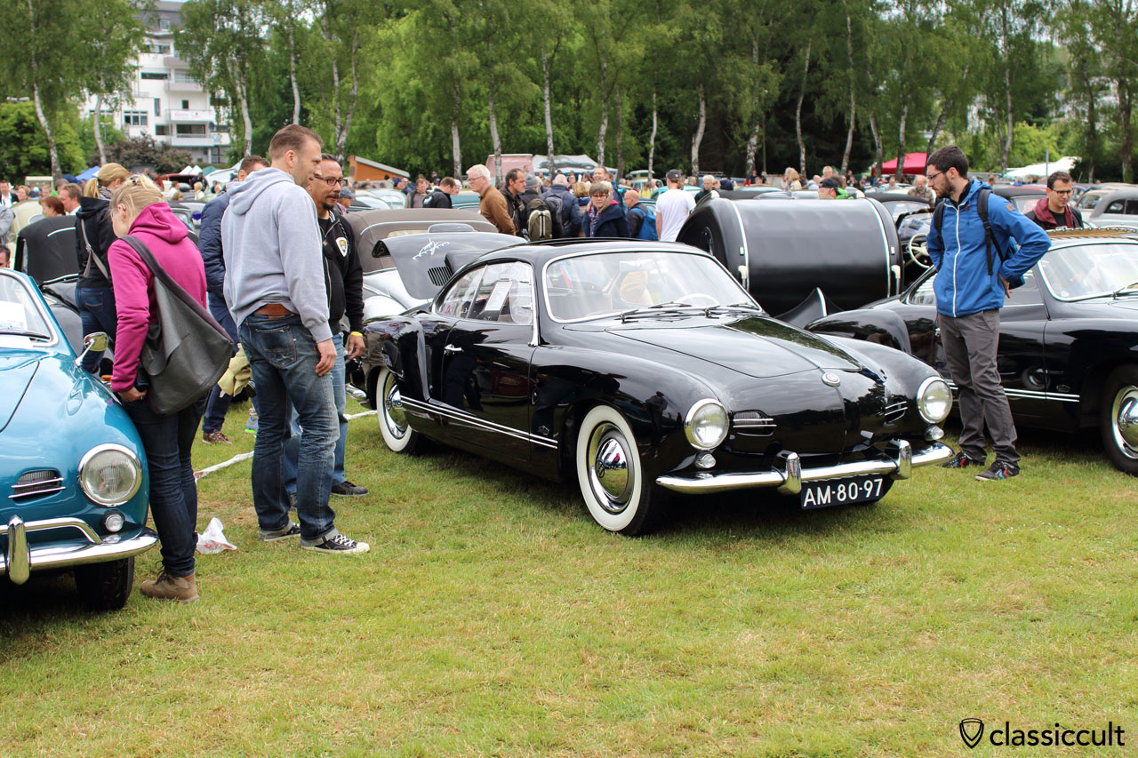 1956 Karmann Ghia Lowlight with Golde sunroof, Judson Supercharger and DKW horn button. Bad Camberg VW Meeting 2015