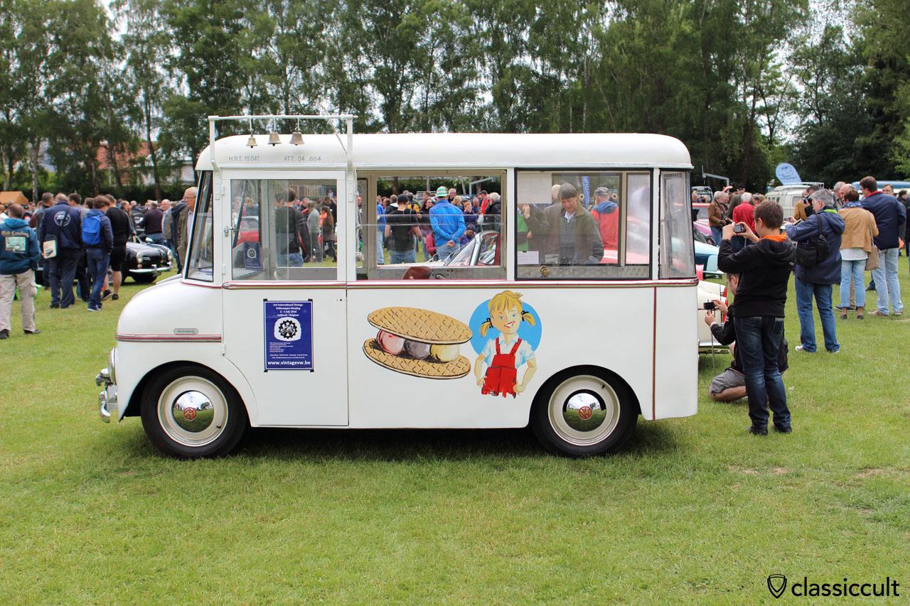 superb coachbuilt VW ice cream truck, Made in Belgium, Geert Mommen