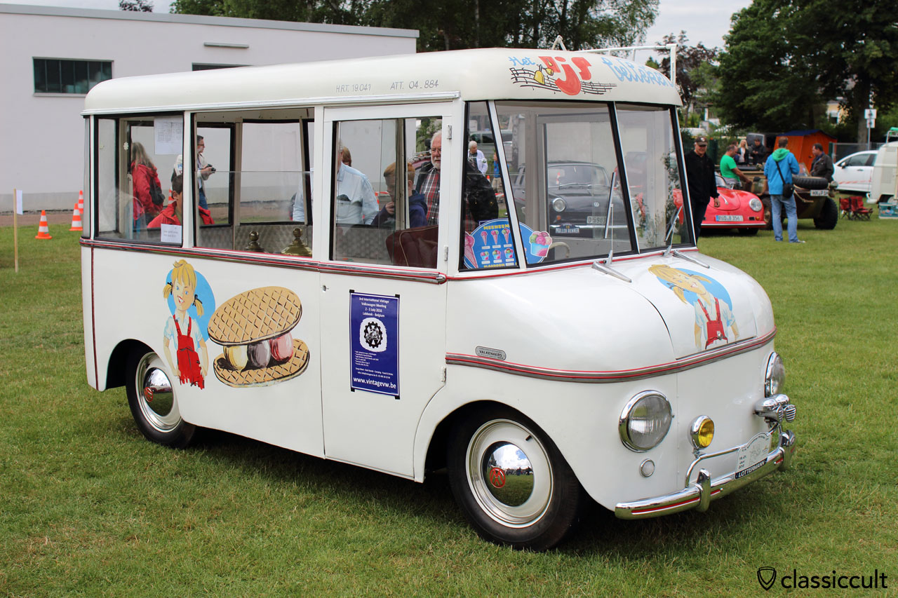 superb coachbuilt VW ice cream truck, Made in Belgium, Bad Camberg 2015