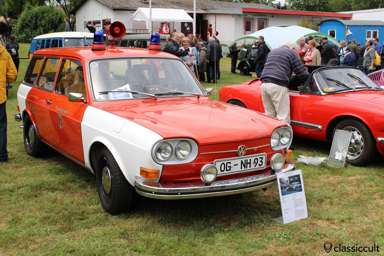 VW 411 E Varaint ELW (Einsatzleitwagen), 1971, 85000 km, fire department Offenburg