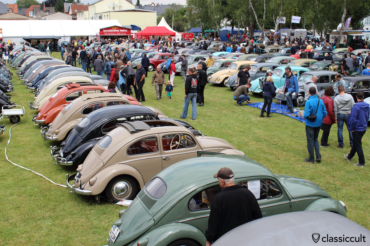 VW Oval Beetles line, Bad Camberg Meeting 2015