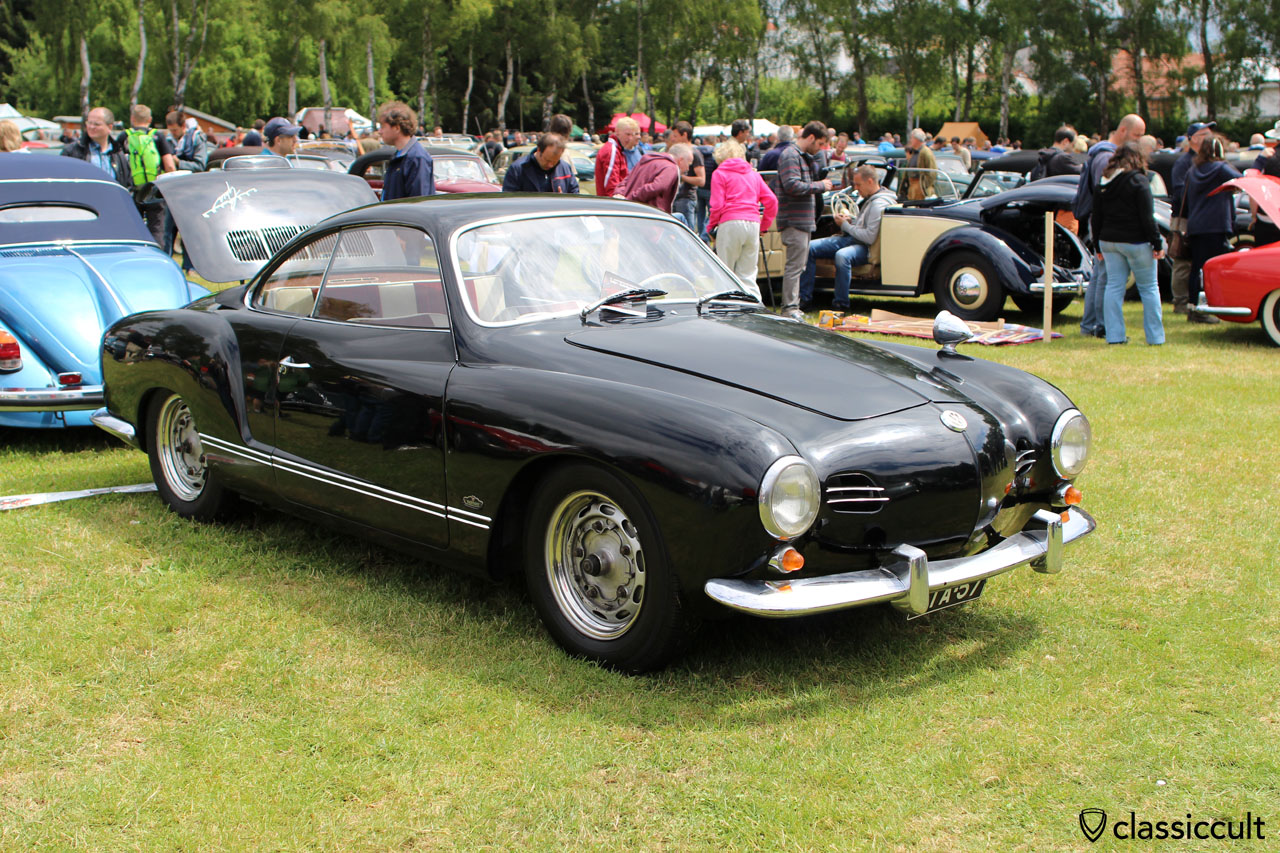 Karmann Ghia with Talbot mirror