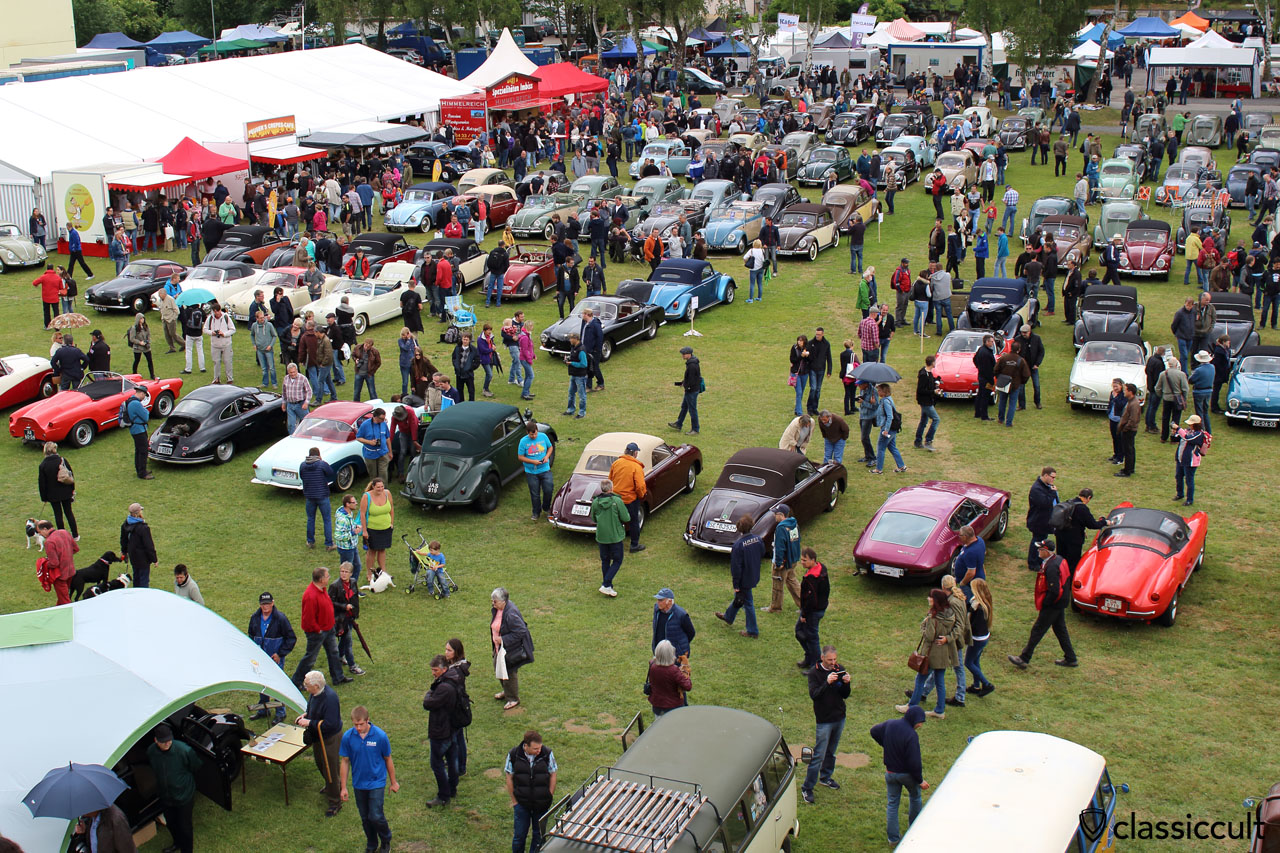 Bad Camberg VW Show 2015, view from T1 Split ladder truck