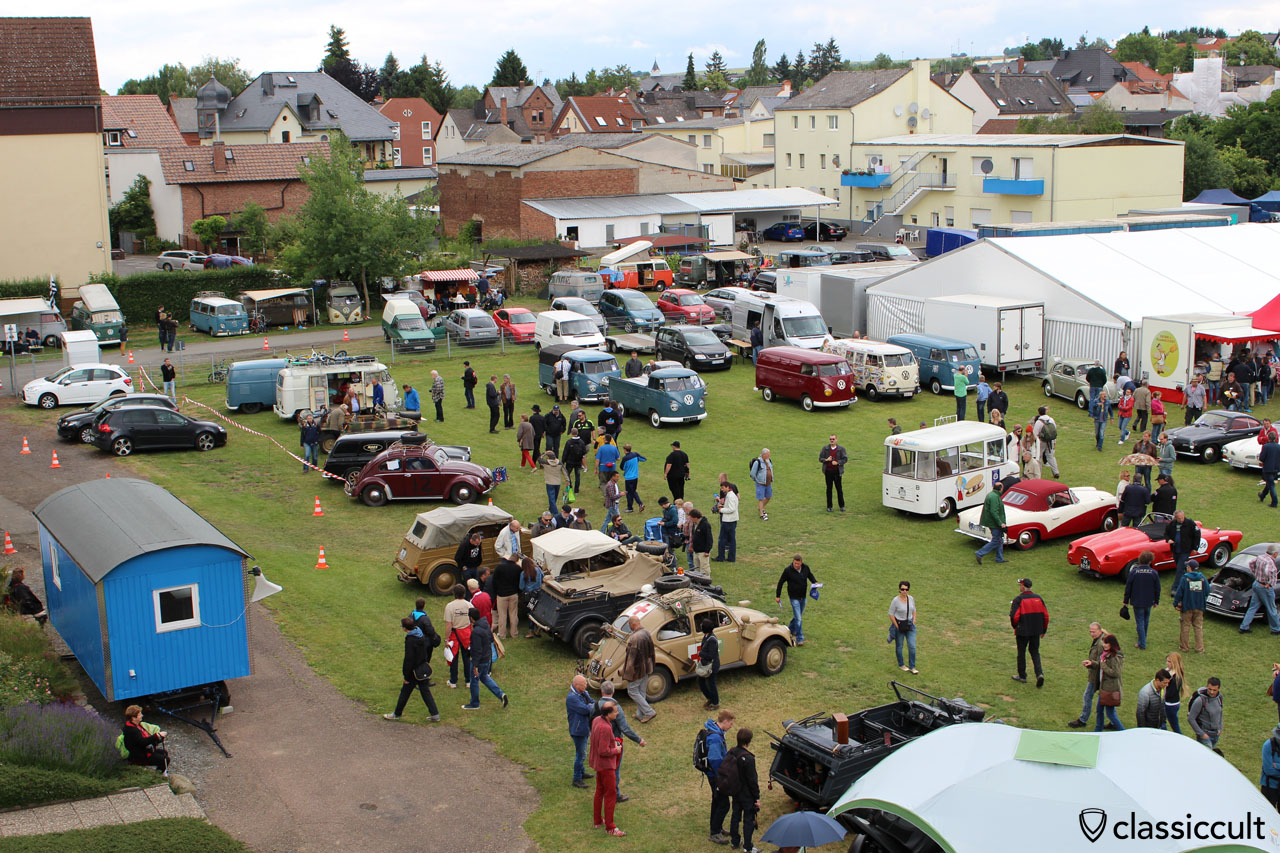 Bad Camberg VW Meeting 2015, view from T1 ladder truck