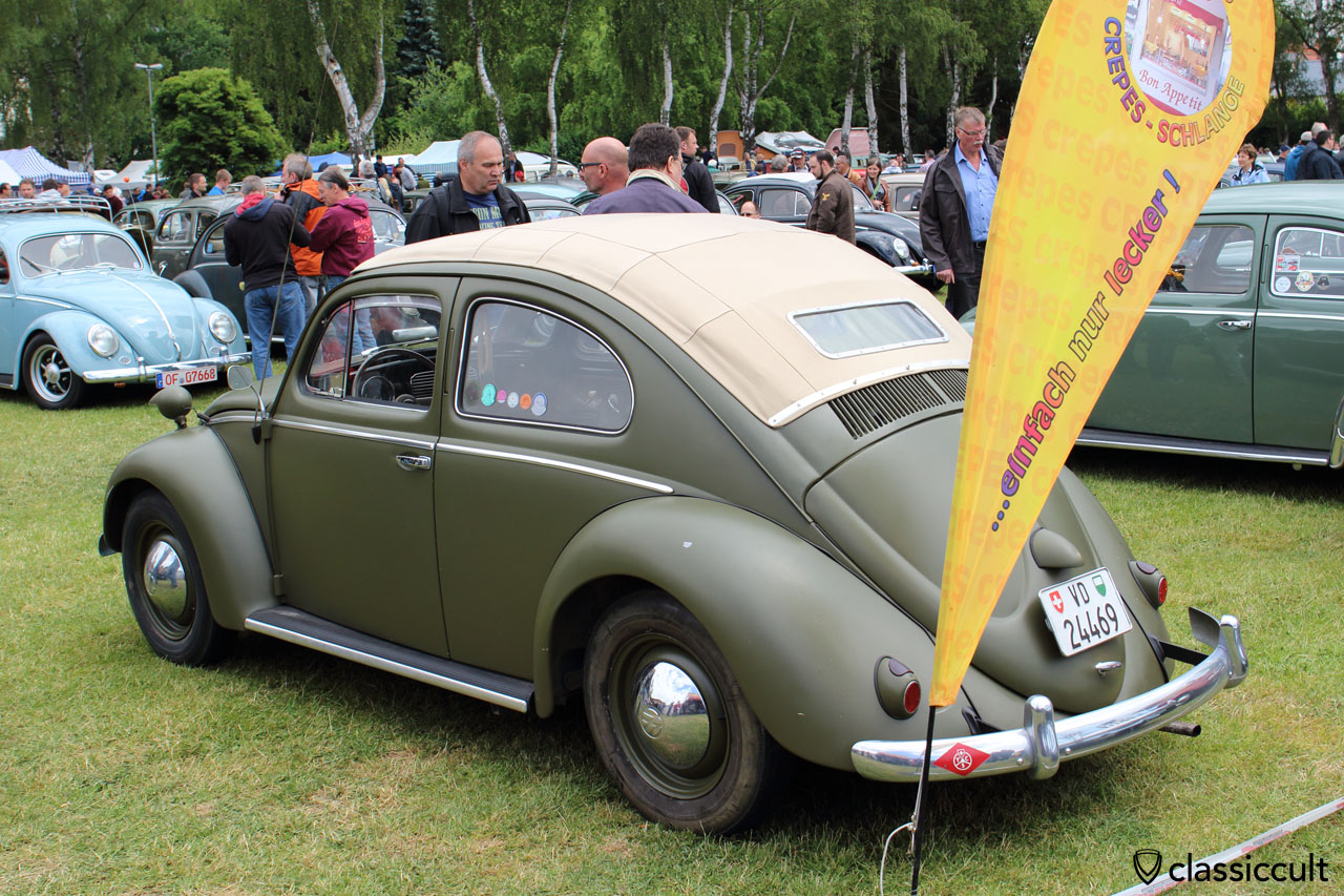 VW Oval Beetle with special ragtop roof from Switzerland