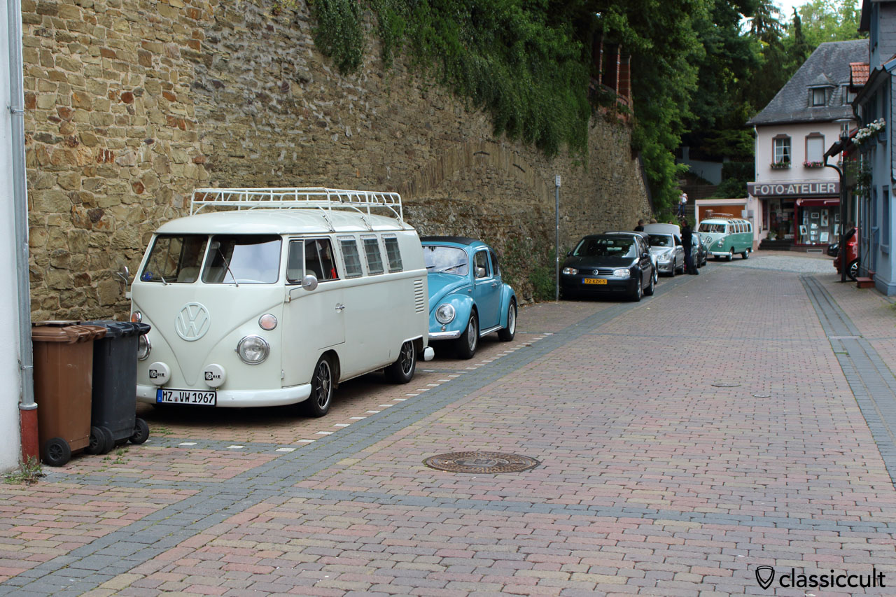 1961 VW T1 Split Bus in historical town of Bad Camberg