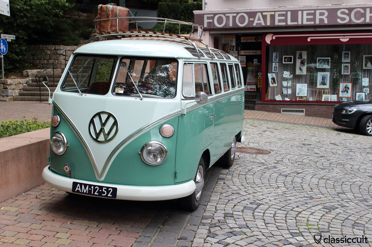 1952 Samba Bus in historical town of Bad Camberg