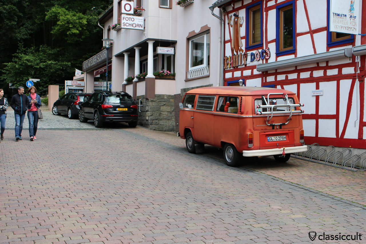 1978 T2 Bus in historical town of Bad Camberg