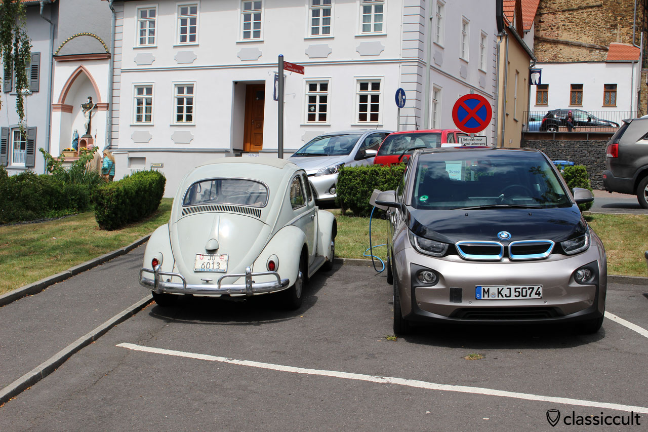 Ragtop VW Beetle and BMW i3