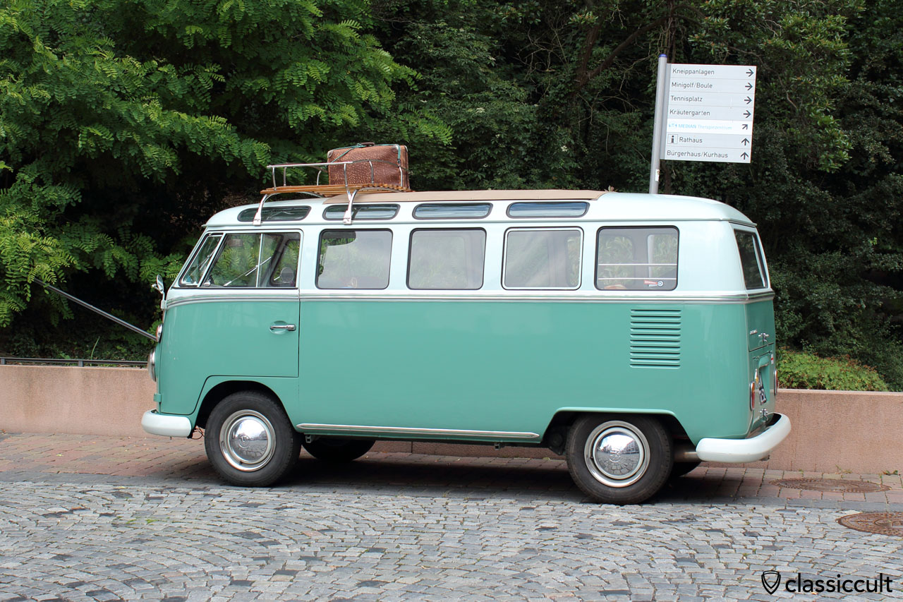 VW Samba Bus in Bad Camberg old city