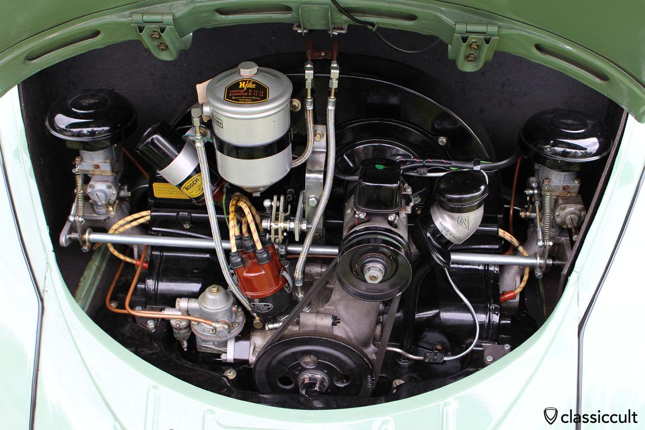 VW Beetle engine with Hengst Filter, Münster Westfalen