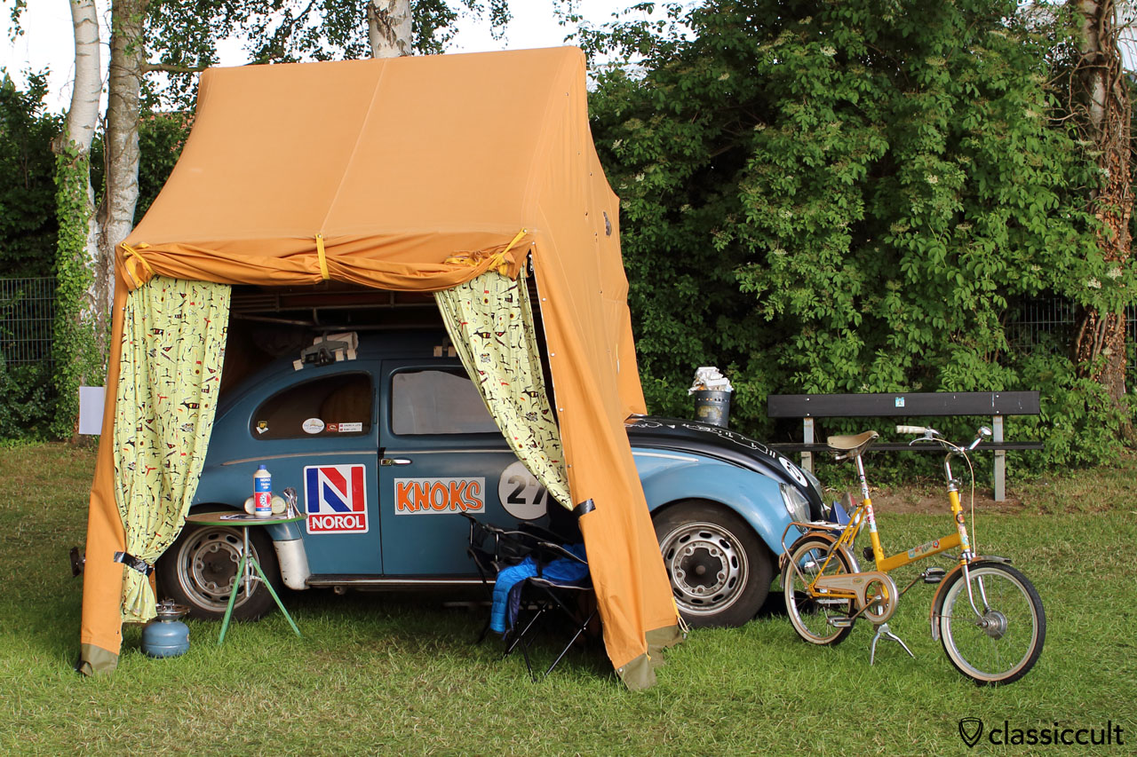 VW Oval with roof tent