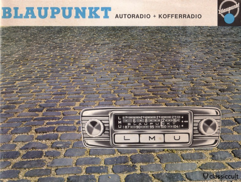 Vintage Blaupunkt car radio and portable radio prospectus. Printed in Germany 1963.