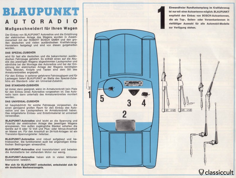 Blaupunkt car radio and portable radio brochure