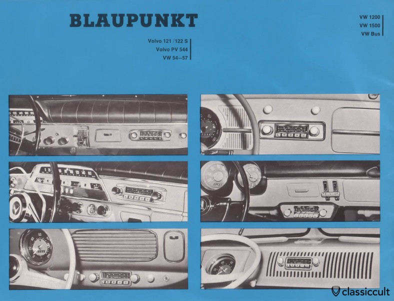 Blaupunkt Radio in VW Oval Bug 1954-1957, VW 1200, Type 3 1500 and T1 Bus.