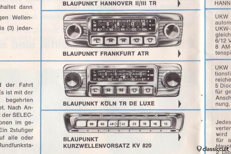 Blaupunkt ShortWave Autoradio Adapter KV 820 in Blaupunkt car radio brochure 1963. About the same like KV 900.
