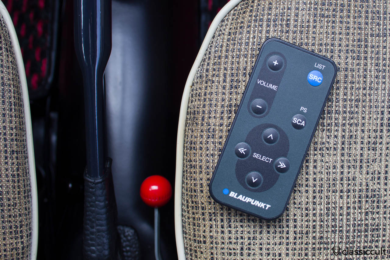 Blaupunkt remote RC 823 in my VW Bug