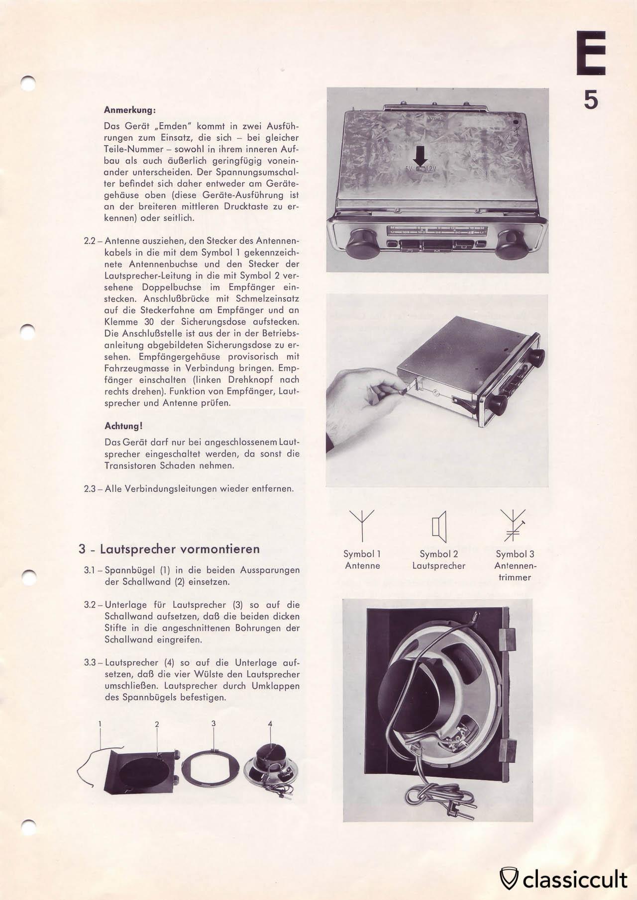 Blaupunkt Wolfsburg Emden speaker mounting instructions.
