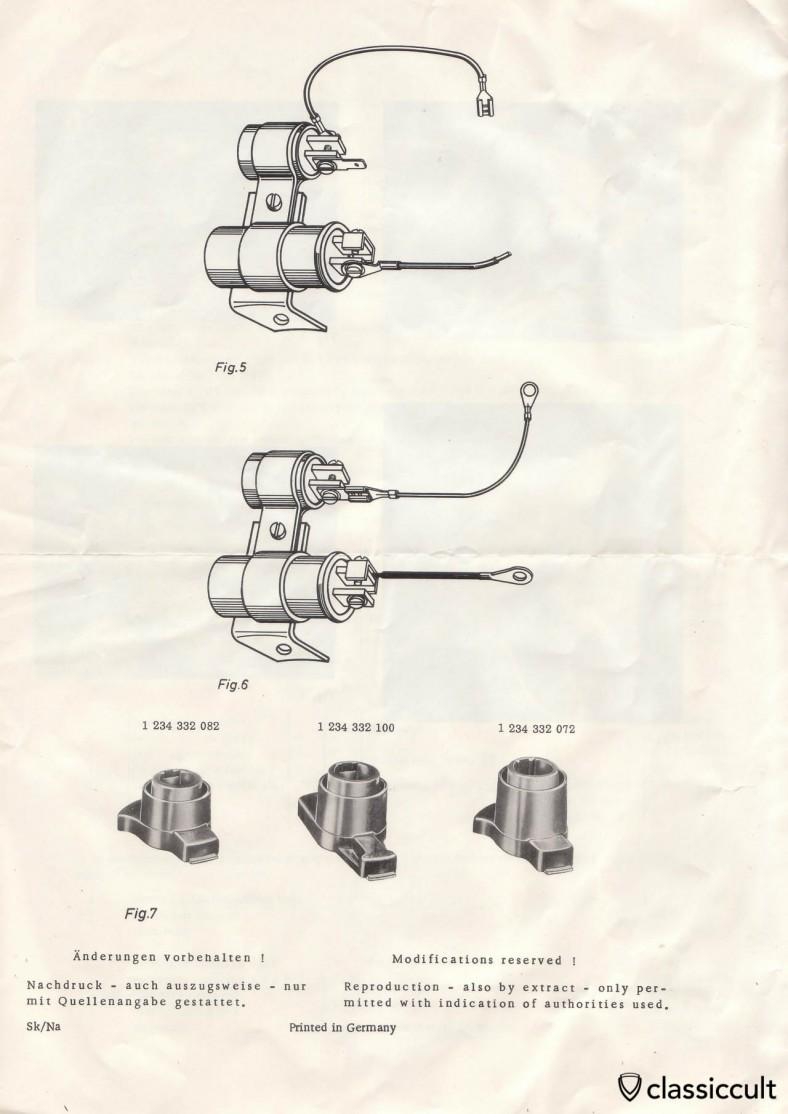Bosch Suppression Instructions VW Bug 1958-1965, Karmann Ghia, Bus, Transporter Radio with FM