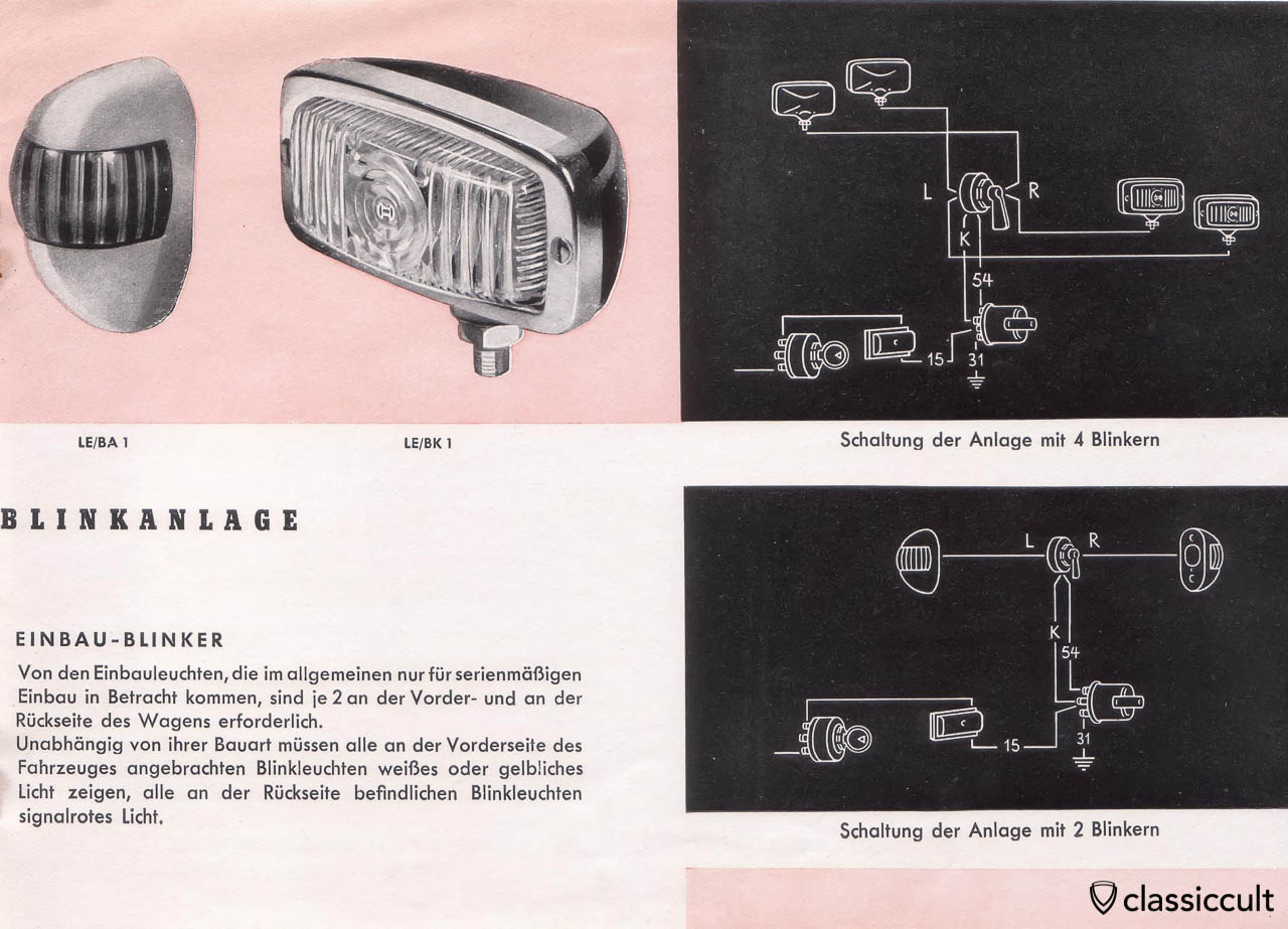 Bosch Turn Signal Brochure 1951 VW Split
