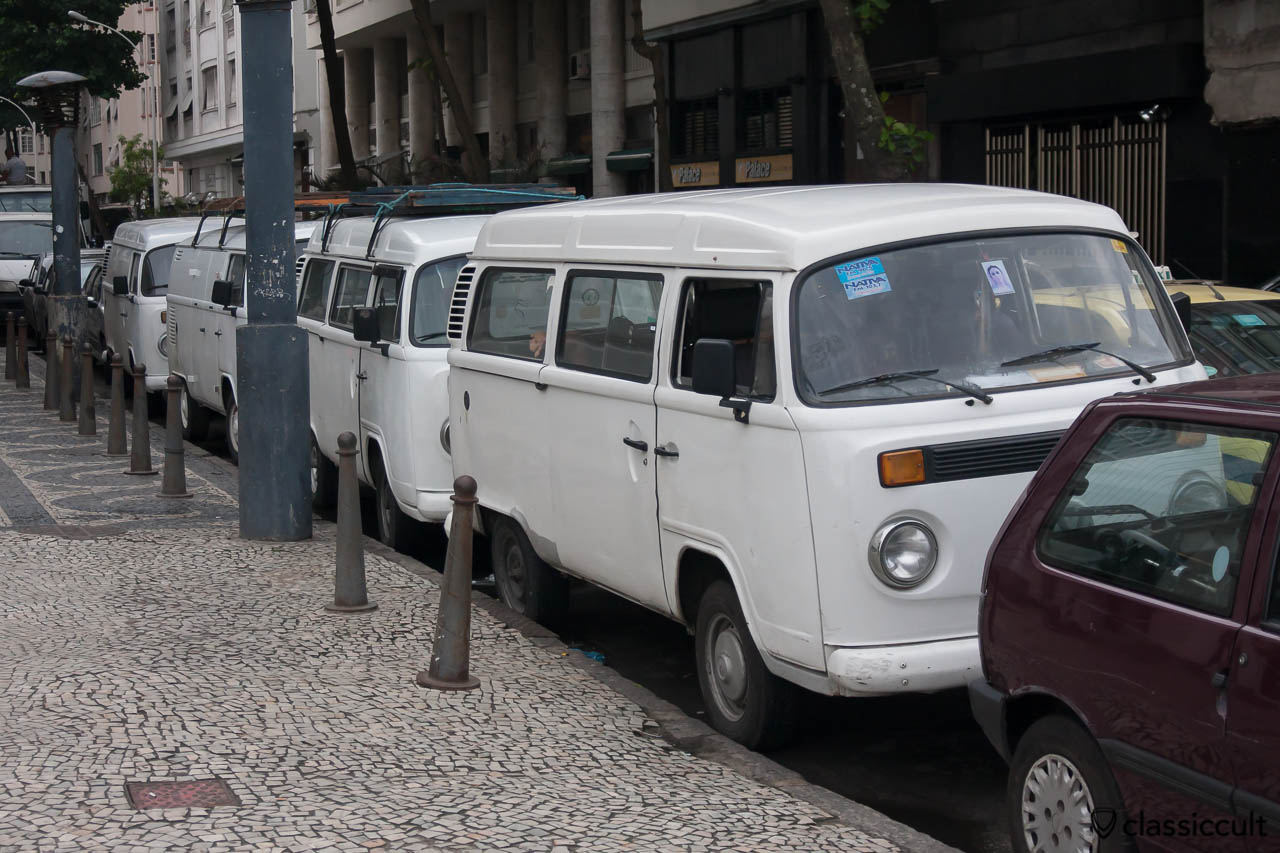 Brazilian VW Bay Bus line up Copacabana Palace Hotel Rio, May 23, 2013