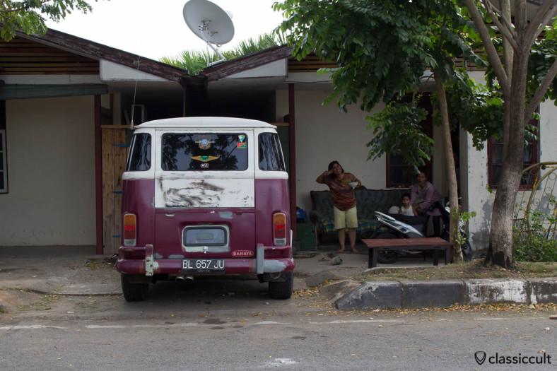 Brazilian VW Bay Bus in Banda Aceh Indonesia, with special antenna for RAPI (Radio Antar Penduduk Indonesia) Wilayah Kab. ACEH Utara, ACEH LHOKSEUMAWE VW Club Community
