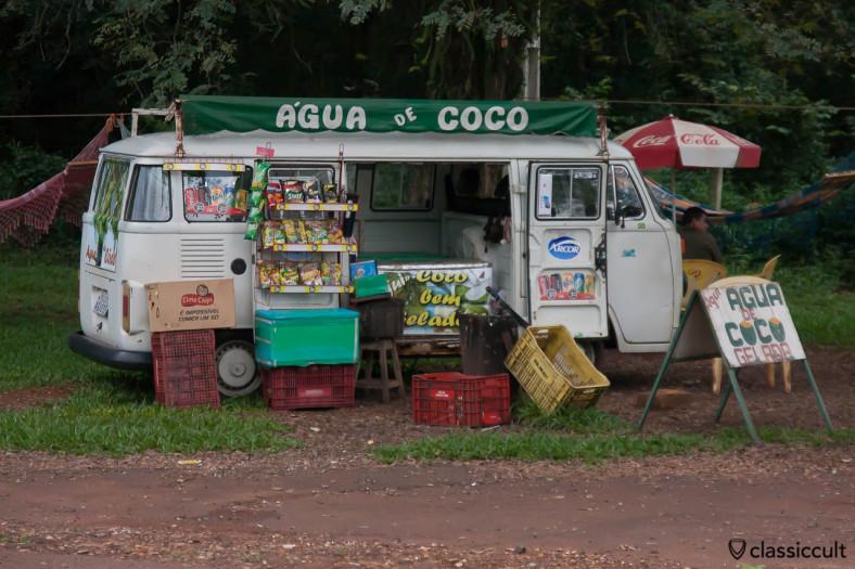 Brazilian VW Bay Split Kombi Bus Agua de coco, Iguazu Falls, May 21, 2013