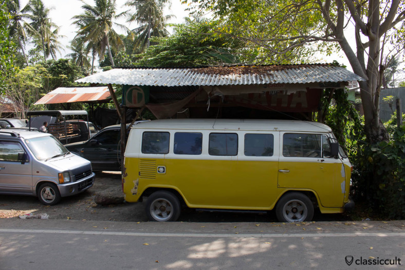 This Brazilian VW Bay Window Bus gets the motor repaired in Banda Aceh Indonesia.