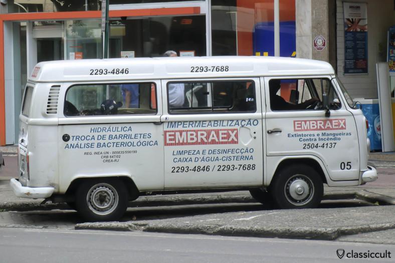 Brazilian VW Kombi from Embraex Company, Ipanema, Rio, Brazil, May 22, 2013