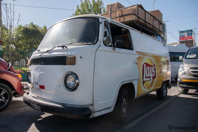 Brazilian VW Panel Van with Lays advertisement Arequipa, Peru, May 9, 2013