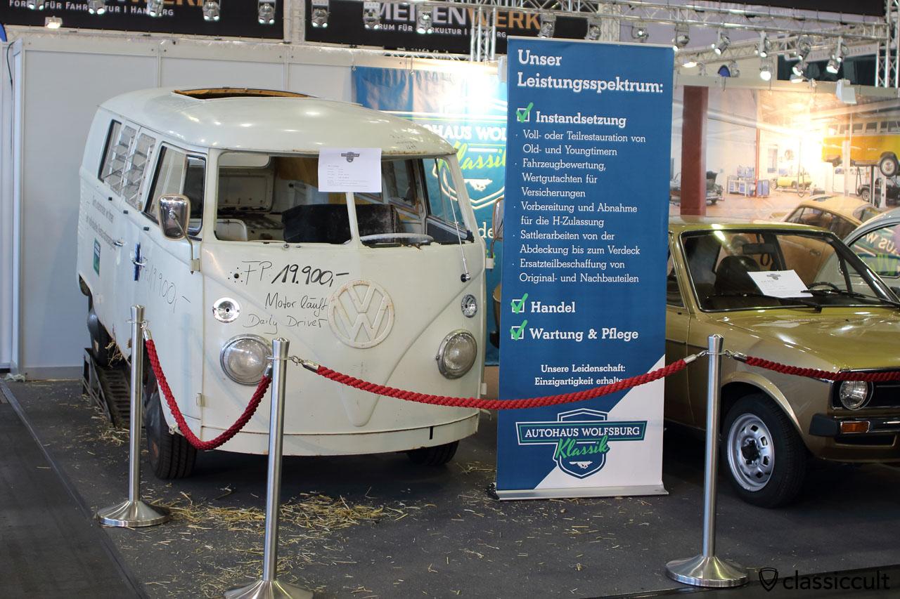 VW T1 Bus in resto, Autohaus Wolfsburg