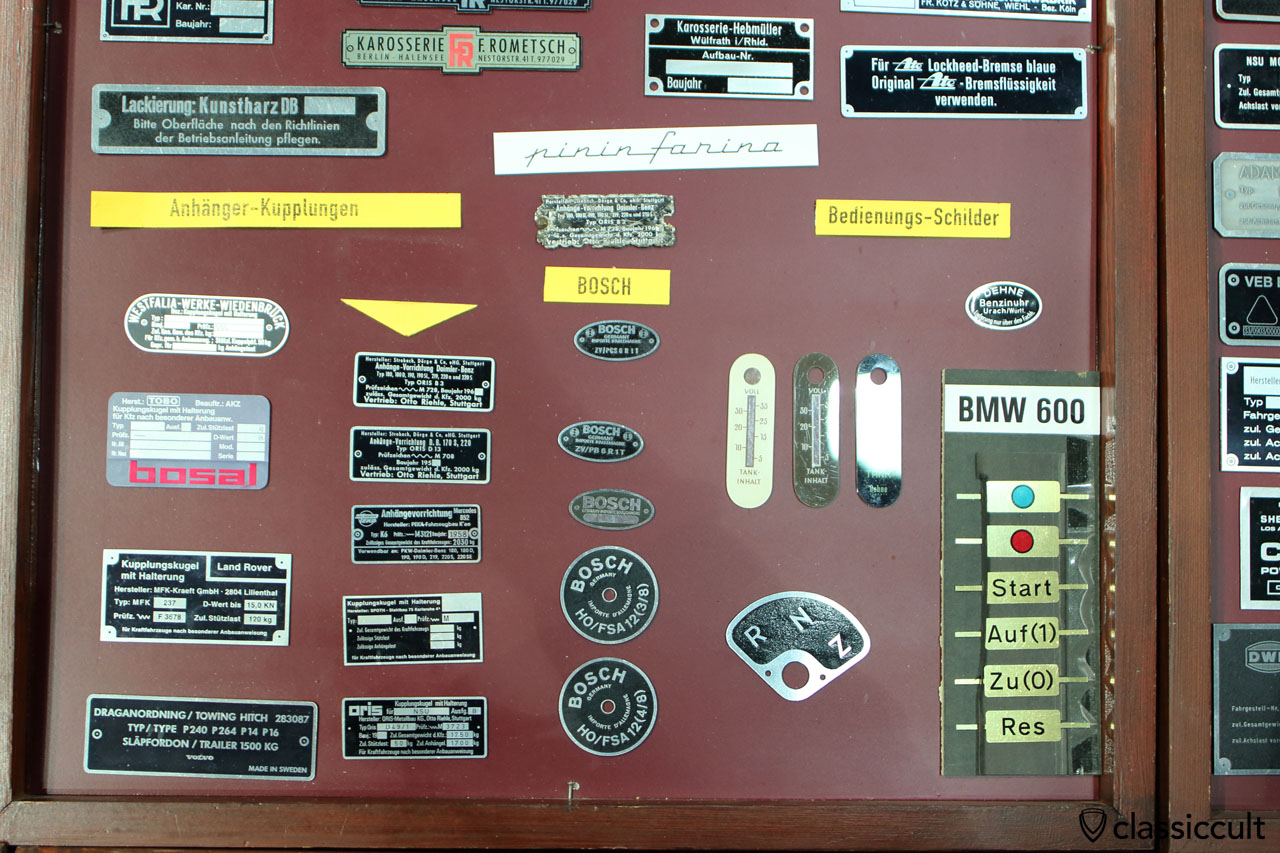 repro of vintage car badge