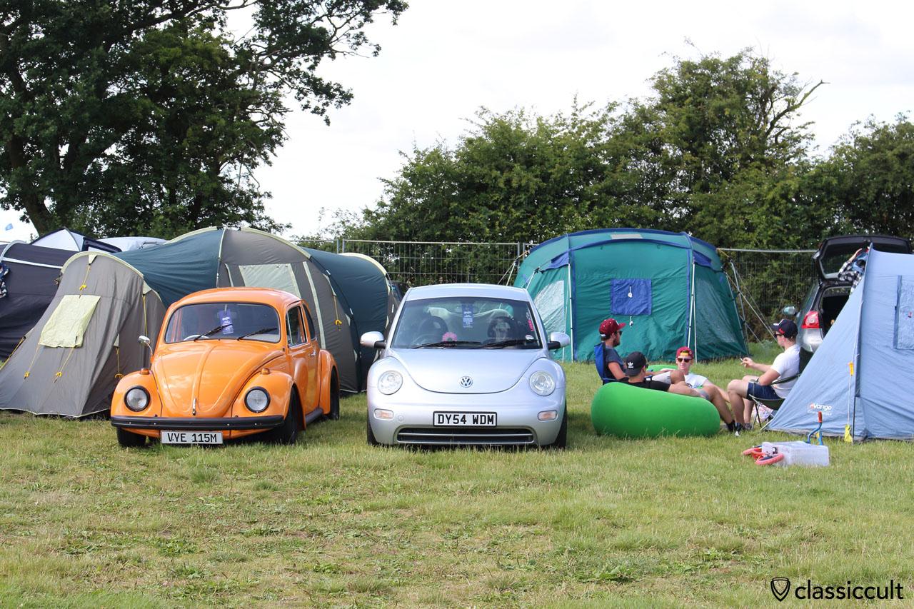 old VW Bug meets new beetle