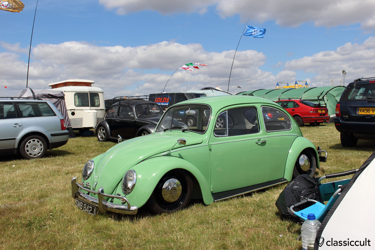green low VW Beetle