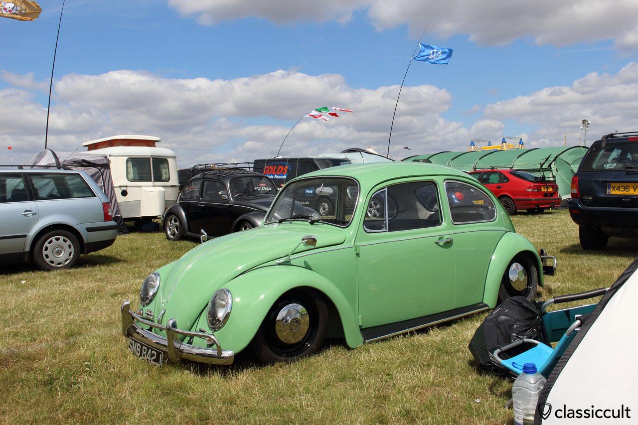 green low VW Beetle